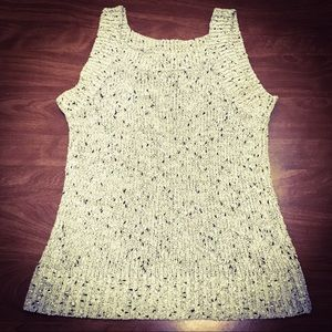 Chico's Beige Sleeveless Dressy Sweater